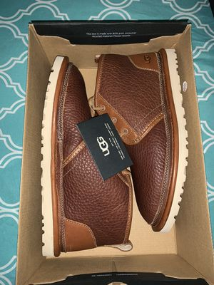 Brand new men's leather nuemel fur filled waterproof uggs size 8, 9 ,11 available price is firm for Sale in The Bronx, NY
