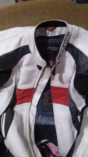 LeatherTeknic motorcycle jacket with crash protection pads for Sale in Hogansville, GA