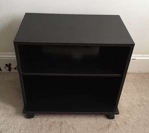 Small Black TV Stand /Storage Shelf /Shelving /Bookcase on Wheels for Sale in Swampscott, MA