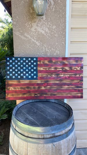 Beautiful handmade wooden flag for Sale in Dinuba, CA
