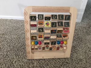 Wood ABC learning game for kids for Sale in Lewis Center, OH