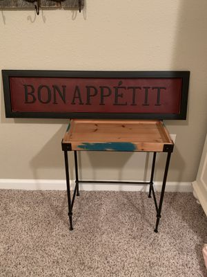 9 1/2 x 36 1/2 BON APPETIT metal sign for Sale in Gig Harbor, WA