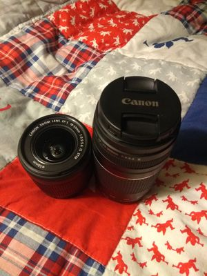 Canon lenses like new 18-55mm 50mm 75-300mm for Sale in San Jose, CA