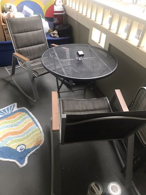 Chairs and a table for outdoor for Sale in Fairfax, VA