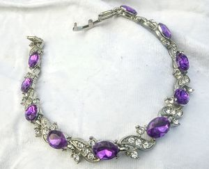 Purple Amethyst and White Cubic zirconium bracelet for Sale in Arvada, CO