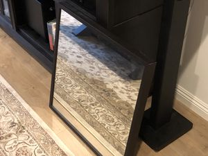 Wall mirror- brand new, dark wood frame, 24x24 for Sale in Santa Monica, CA