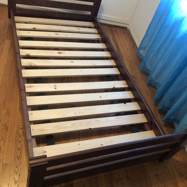 Twin Size Bed Wood On Wheels ;)