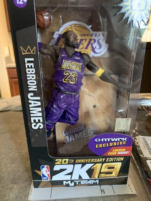 """NBA 2K19 McFarlane Lebron James 7"""" Figurine 20th Anniversary Edition Action Figure (Exclusive for Sale in Raleigh, NC"""