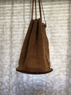 Suede leather boho satchel bag for Sale in San Mateo, CA
