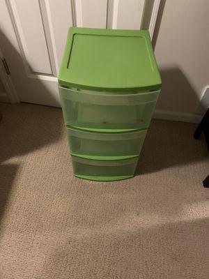 Green Plastic Storage Bin for Sale in Columbus, OH