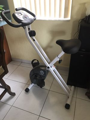 Marcy Foldable Exercise Bicycle Stationary Indoor Bike X Shape Fitness Home for Sale in Hialeah, FL