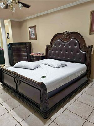 Best DEAL 🍺🍾  FREE Delivery  👍 [SPECIAL] Cavalier Brown Sleigh Bedroom Set 308 for Sale in Houston, TX