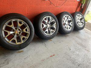 "Set 20"" rims GMC wheels oem original 6x139 with Michelin tires like new one Continental,Yukon,GMC,Tahoe,Silverado etc for Sale in Hialeah, FL"