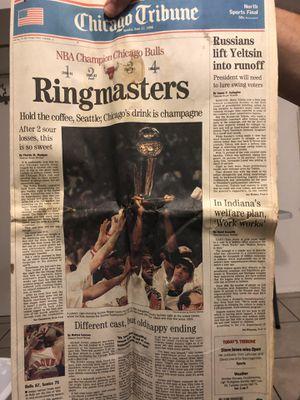 Chicago Tribune Chicago Bulls June-1996 for Sale in Des Plaines, IL