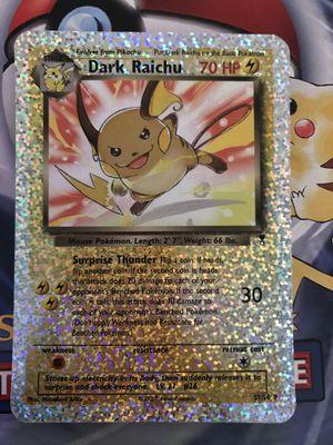 Dark Raichu s3/s4 pokemon 2002 for Sale in Los Angeles, CA