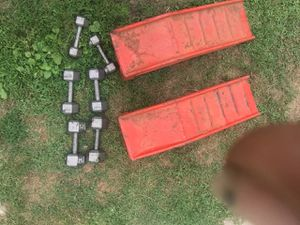 Weights & car ramp for Sale in Detroit, MI
