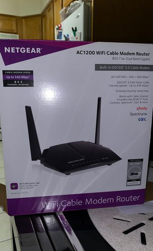 Netgear Cable Modem Router for Sale in Mundelein, IL