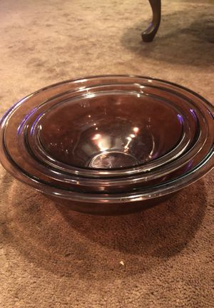 Pyrex clear 3pc bowl set for Sale in Mishawaka, IN