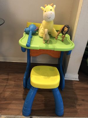 Kids table with chair+ FREE toys of your choice for Sale in Farmers Branch, TX