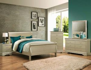Crown Mark Champagne Sleigh Bedroom Set Twin Full Queen and King Size Options for Sale in Houston, TX