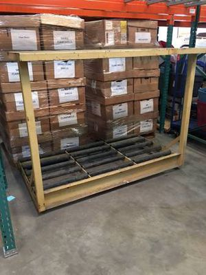 Electric battery rack stand with rollers for Sale in Orlando, FL
