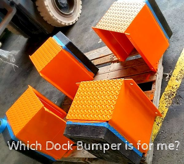 4 edge dock levelers with 8 bumpers boxes