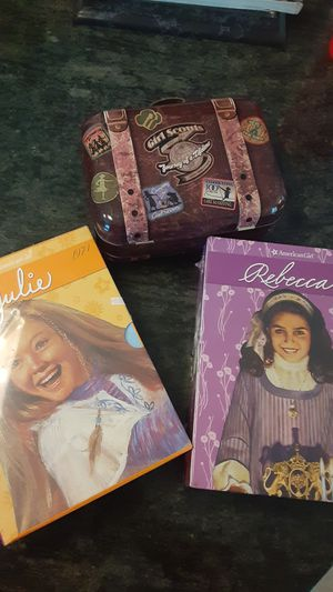 Bundle: American Girl Dolls Julie & Rebecca book series never opened- with free 100year Anniversary lunch box for Sale in Freehold, NJ