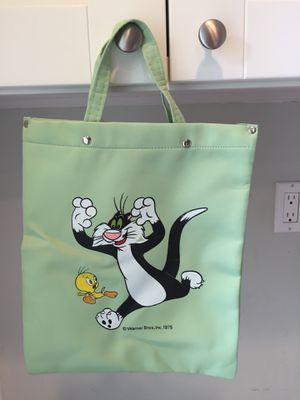 Vintage 1975 Warner Bros Sylvester the Cat and Tweety Bird tote bag for Sale in Redondo Beach, CA