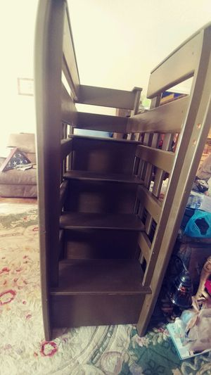 Bunk bed with side staircase for Sale in Goose Creek, SC