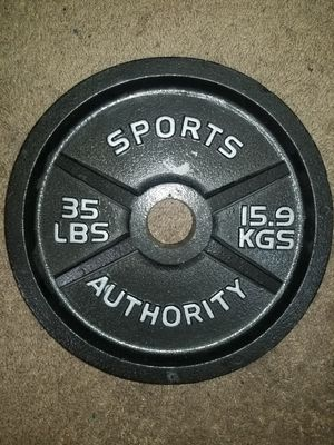 35 pound weight plate sports for Sale in Las Vegas, NV