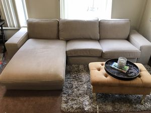 Tan sectional couch for Sale in Burbank, CA