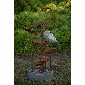 Rustic Flamingo Metal Fountain for Sale in Auburn, GA