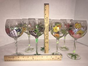 7 Handpainted wine glasses for Sale in Hilliard, OH