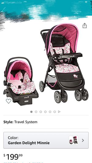baby car seat and stroller combo disney for Sale in Philadelphia, PA