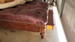 Leather ottoman for Sale in Chiriaco Summit, CA