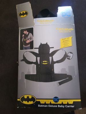 Kid Embrace Batman Deluxe Baby Carrier w/ Hood for Sale in Las Vegas, NV