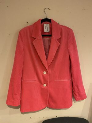 Oversized Corduroy-style hot pink suit for Sale in Brookhaven, GA