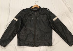 Whispering Smith faux leather motorcycle Jacket size L for Sale in Alpharetta, GA