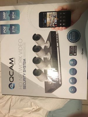 QCAM/Amcrest 3MP POE Security 6 Camera System for Sale in Homestead, FL