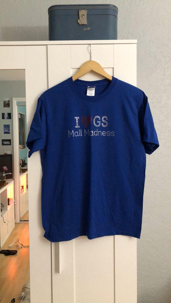 Girl Scout Mall Madness Jerzee T Shirt Rhinestone Girls size medium