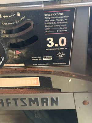 Craftsman Table Saw for Sale in Saugus, MA