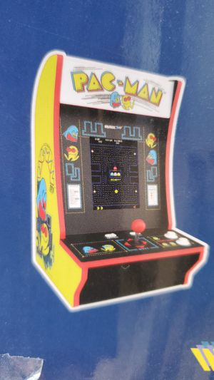 Arcade 1up pac man + pac & pal 2 games on for Sale in Sacramento, CA