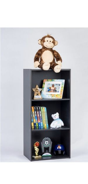Black Multi-Purpose 3 Tiered Storage Shelf Standard Bookcase for Sale in Queens, NY