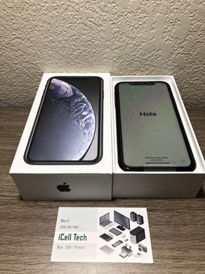 New Never Used open box iPhone XR 64gb At&t and Cricket Carrier with 1 year warranty from Apple for Sale in Fresno, CA