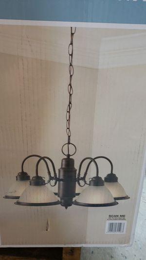 Hampton bay 5 light chandelier for Sale in Moreno Valley, CA