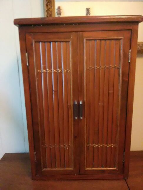Bamboo Cabinet.