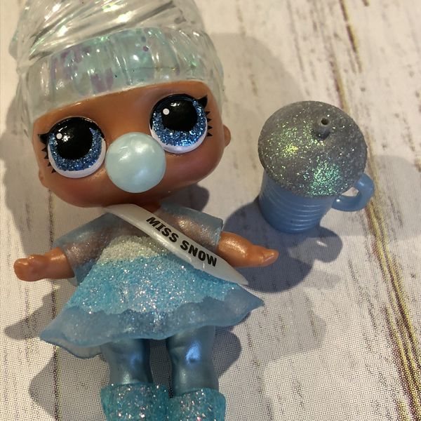 LOL Surprise Doll MISS SNOW BABY Big Sister Winter Disco Glitter Babe