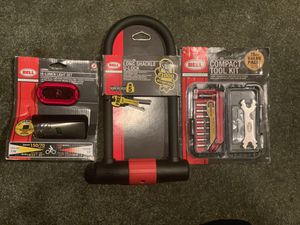Bicycle Lock, Lights, and Tool Kit *New* for Sale in Augusta, MI