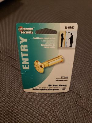 1/2 in. Bore 180-Degree Solid Brass. Bright Brass Finish, Door Viewer for Sale in Auburn, WA
