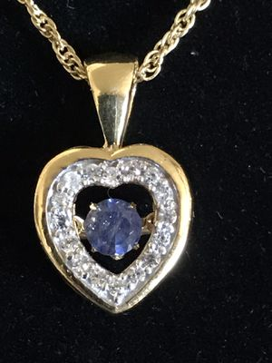 Masoala sapphire beating heart pendant for Sale in Denver, CO